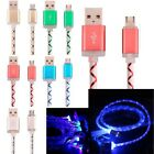 For Android Samsung LG ZTE HTC Light LED USB Charger Cable Charging Cord 3ft