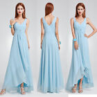 US Women Chiffon High-low Bridesmaid Party Dresses Ball Gown Cocktail Prom 09983