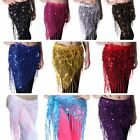 NEW Belly Dance Hip Triangle Wrap Scarf Skirt Belt Dancing Costume Blingbling