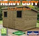 7x5 Heavy Duty Wooden Building Pent Shed Treated Timber Storage Hut Tanalised