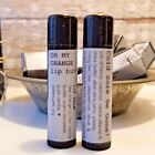 Yummy Lip Balm homemade with Young Living Essential Oils & Pure Orange Butter