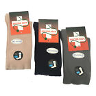 Mens Pure Cotton Loose Top Socks Black Grey Beige Sz 2-8 6-11 11-4