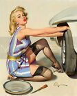 Gil Elvgren-Quick Change, Canvas/Paper Print, Pinup Girl