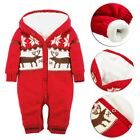 2017 Christmas Kid Baby Boy Girl Santa Hat+Romper Jumpsuit Outfit Set Clothes US