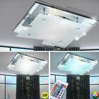 LED Crystal Ceiling Lamp Living Room Chrome RGB Remote Control Lamp Dimmable