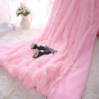 Long Pile Throw Dofa Bed Blanket Super Soft Solid Faux Fur Warm Cover 160x200cm