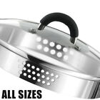 Draining Tempered Glass Spare Replacement SAUCEPAN LIDS Strainer Colander Sieve