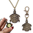 Tortoise Alloy Keychain Necklace Quartz Watches Pendant Pocket Jewelry Gifts image