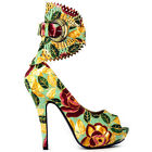 Multi-Colour Gladiator Platform High Heel Stiletto Party Pumps Sz 4/5/6/7/8/9/10