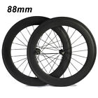 1975g 88mm Clincher Carbon Wheels 271/372 Hubs Racing Touring Standard Wheel