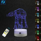 Star Wars AT-AT 3D Acrylic Lamp 7 Colors LED Night Light+Remote Table Lamp Gifts $17.94 USD on eBay