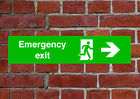 Fire Exit Right HSE sign Health & Safety EMER28 55cmx12.5cm PVC Dilite Vinyl
