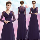 US Women's Elegant A-line Bridesmaid Ball Prom Gown Formal Evening Dresses 08692
