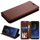 Samsung GALAXY S8 Hybrid Leather Flip Wallet Case Phone Cover Stand Pouch Card