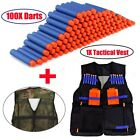 Tactical Vest Jacket Pocket+100x Refill Bullets For Nerf Gun N-Strike Elite Game