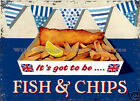 RETRO METAL PLAQUE :IT'S GOT TO BE FISH AND CHIPS sign/ad