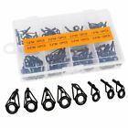 Spinning Casting Fishing Rod Guides Parts Stainless Repair Guides DIY Set Kits