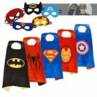 Superhero Satin Cape Cartoon Dress Up Costume with Felt Mask for Kids