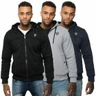 Rawcraft Mens Casual Fleece Lined Sweat Shirt Hoodie Zip Up Hooded Jacket Coat
