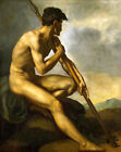 Classic French Romantic Art Print: Warrior with Spear by Theodore Gericault