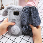 Bling Bunny Rabbit Fur Fluffy Phone Case For Samsung Galaxy S6 S7 edge S8 Plus