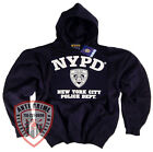 NYPD Shirt Hoodie Sweat shirt Licensed By The New York City Police Department