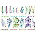 1 Pc Uncut A5 Hand Painted Feather Scrapbooking Stickers DIY Album Diary Sticker