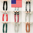 USA! Girls Kids Thigh Stockings Over Knee High Long Socks Cute 3D Cartoon Animal