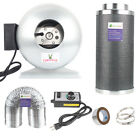 High CFM Inline Fan Carbon Fliter Combo Fans+ Speed Controller & 25 Feet Ducting