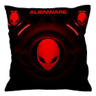 "ALIENWARE HEAD RED Throw Pillow Case 16"" 18"" 20"" inch Zippered Cushion Cover"