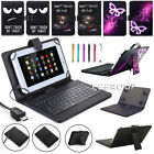 For Insignia Flex 10.1 NS-P10A8100 2017 Micro USB Keyboard Leather Case Cover YW