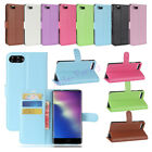 """Protective Flip Leather Wallet Card Slot Holder Case Cover For Doogee Mix 5.5"""""""