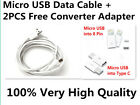1x MICRO USB Android Data Charge Cable Apple IOS 8 Pin Type C Converter Adapter