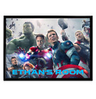Avengers PERSONALISED Wall Poster Print Name Bedroom Iron Hulk Cap Marvel A4