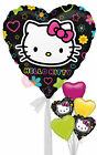 Hello Kitty Tween Heart - Inflated Helium Balloon Delivered  in a Box