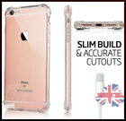 For Apple iPhone X 8 7 6S 8 Plus Clear Gel Case New Shockproof TPU Slim Cover UK