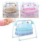Electric Baby Crib Cradle Infant Rocker Auto Swing Bed Baby Sleep Cradle + Mat