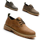 Men's Lace-up Shoes Ankle Boots Suede Sneakers trainers brown khaki leather new