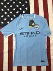 New Men's Manchester City Soccer Club Home Jersey 2017 2018 Player Version image