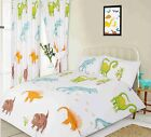 KIDS DINOSAURS DUVET COVER SET CHOICE OF SINGLE DOUBLE KING SIZE OR CURTAINS