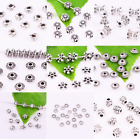Внешний вид - Wholesale Lot Beautiful Metal Tibetan Silver Small Charms Spacer Beads~Lot size~