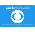 CBS All Access Gift Card - $25 $50 or $100 - Fast Email delivery