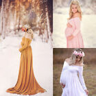 Pregnant Womens Cotton Maternity Clothes Gown Photo Photography Props Maxi Dress