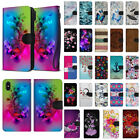 For Apple iPhone X / XS 5.8 inch Canvas Card Holder Wallet Pouch Case Cover