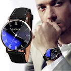 Hot Luxury Men's Watch Stainless steel Leather Band Analog Quartz Wrist Watch