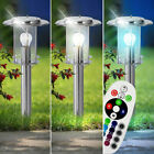 1-2x RGB LED Stand Lights Garden Lamps Remote Control Outdoor Lanterns Dimmable