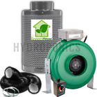 "Active Air 4"" 6"" 8"" Inch Inline Fan Carbon Filter Ducting Combo HPS Grow Tent"