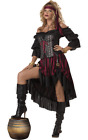 Adult Wench Pirate Costume Caribbean Medieval Buccaneer Fancy Dress Outfit