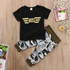 Mother Son Kid Baby Romper Tops T-shirt Pants Camo Outfits Family Matching Set