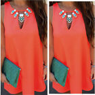 Womens Boho Style Sleeveless Beach Dress Casual Chiffon Cocktail Mini Sundress